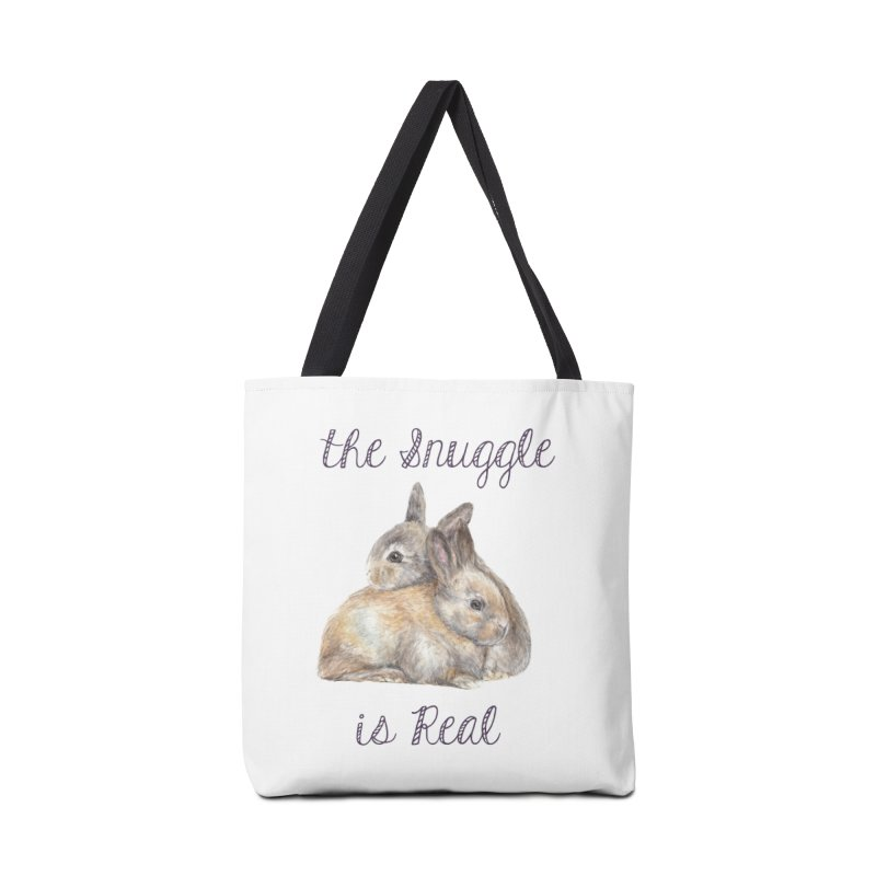 The Snuggle Is Real Bunnies Accessories Bag by Wandering Laur's Artist Shop