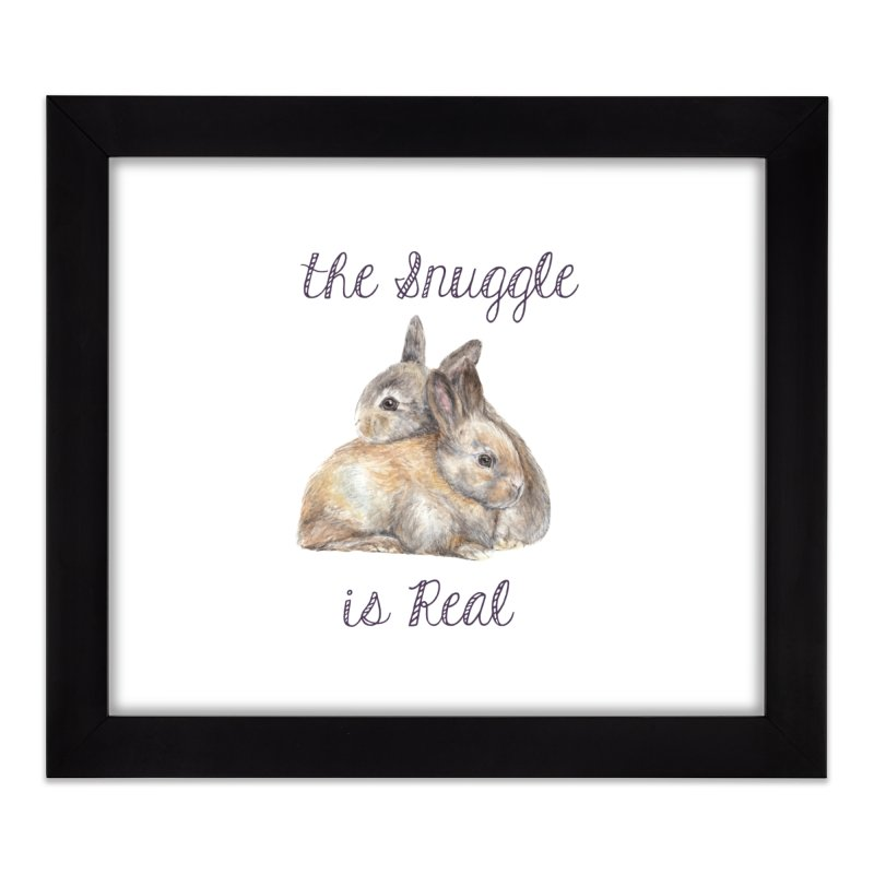 The Snuggle Is Real Bunnies Home Framed Fine Art Print by Wandering Laur's Artist Shop