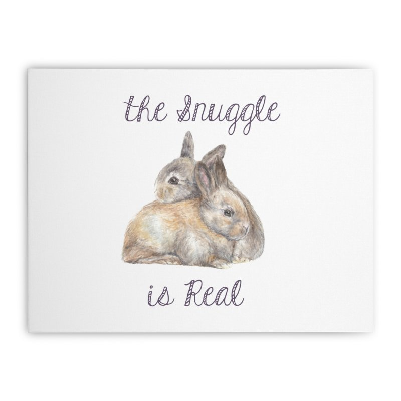 The Snuggle Is Real Bunnies Home Stretched Canvas by Wandering Laur's Artist Shop