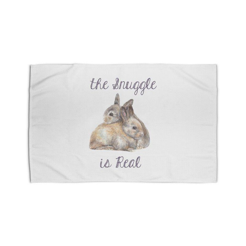 The Snuggle Is Real Bunnies Home Rug by Wandering Laur's Artist Shop