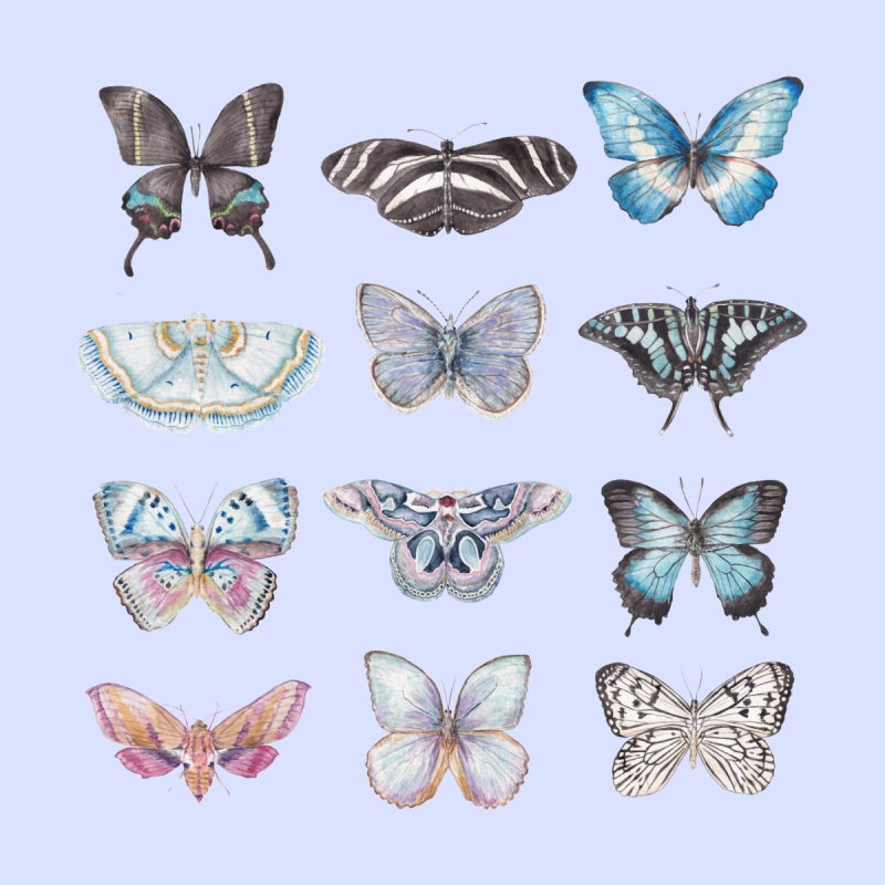 Watercolor Butterflies Women's Zip-Up Hoody by Wandering Laur's Artist Shop