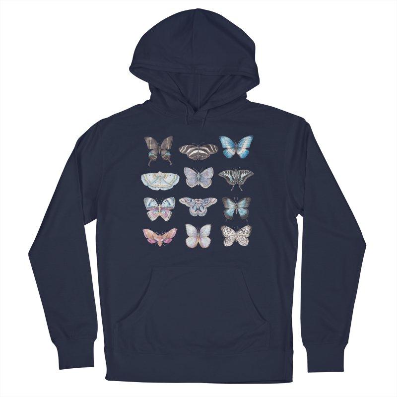Watercolor Butterflies Men's Pullover Hoody by Wandering Laur's Artist Shop