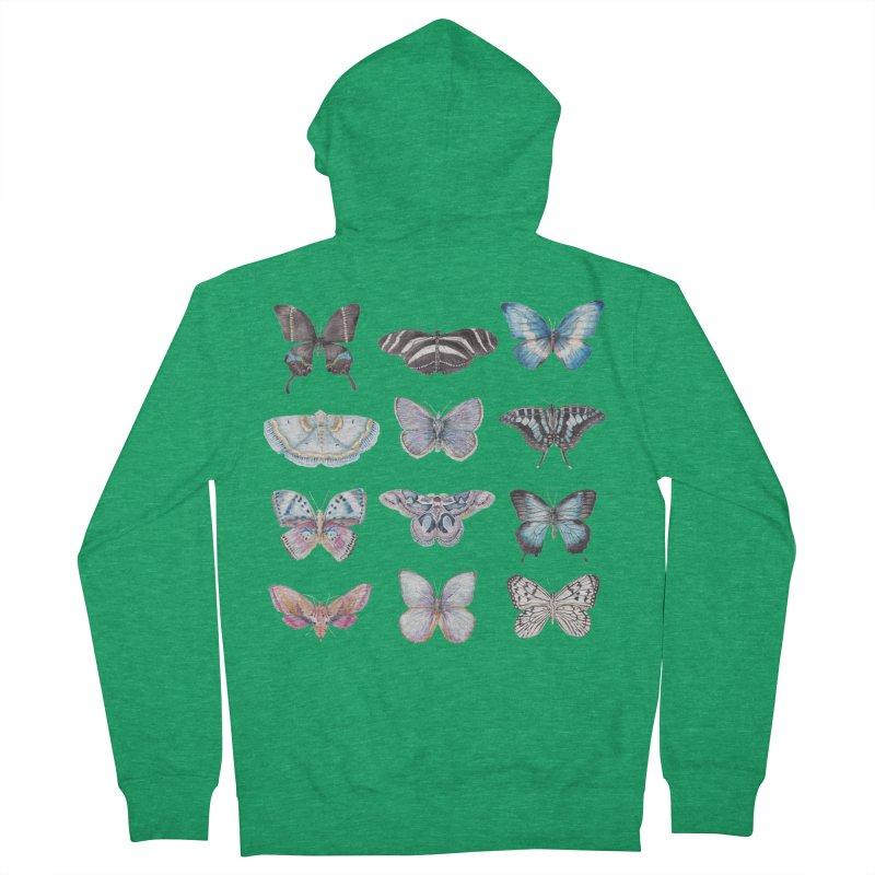 Watercolor Butterflies Men's Zip-Up Hoody by Wandering Laur's Artist Shop