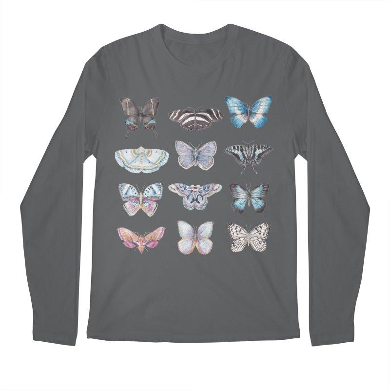 Watercolor Butterflies Men's Longsleeve T-Shirt by Wandering Laur's Artist Shop