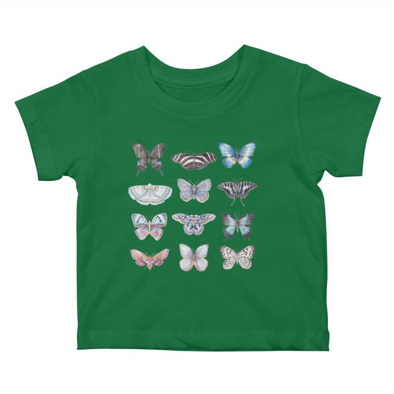 Watercolor Butterflies Kids Baby T-Shirt by Wandering Laur's Artist Shop