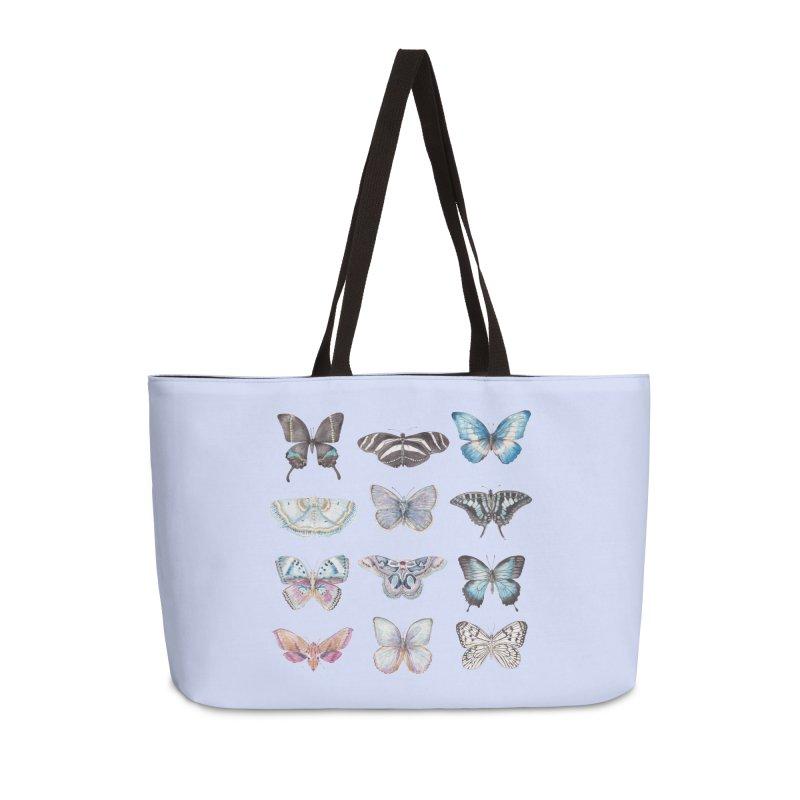 Watercolor Butterflies Accessories Bag by Wandering Laur's Artist Shop