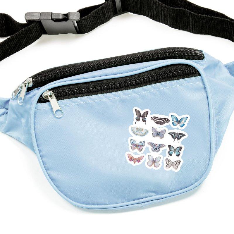 Watercolor Butterflies Accessories Sticker by Wandering Laur's Artist Shop