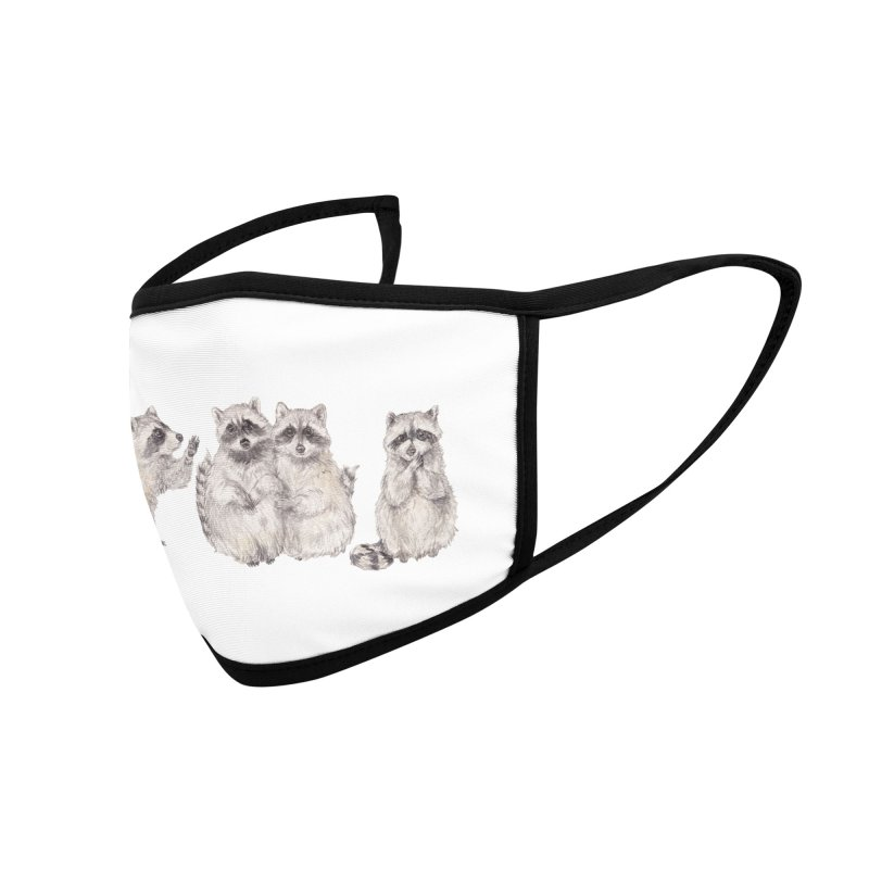 Watercolor Raccoon Accessories Face Mask by Wandering Laur's Artist Shop