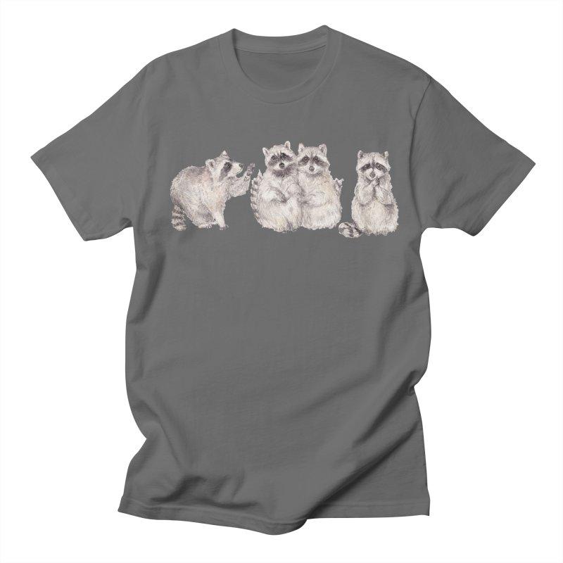 Watercolor Raccoon Men's T-Shirt by Wandering Laur's Artist Shop