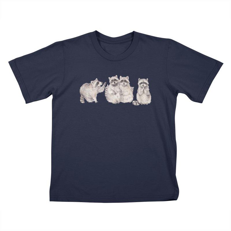 Watercolor Raccoon Kids T-Shirt by Wandering Laur's Artist Shop