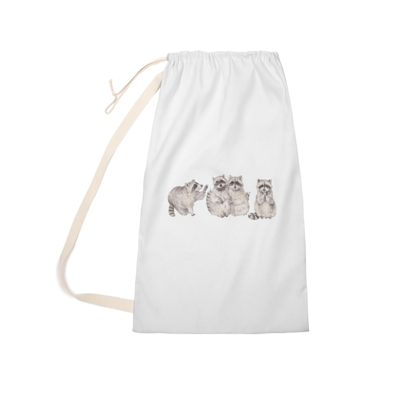 Watercolor Raccoon Accessories Bag by Wandering Laur's Artist Shop