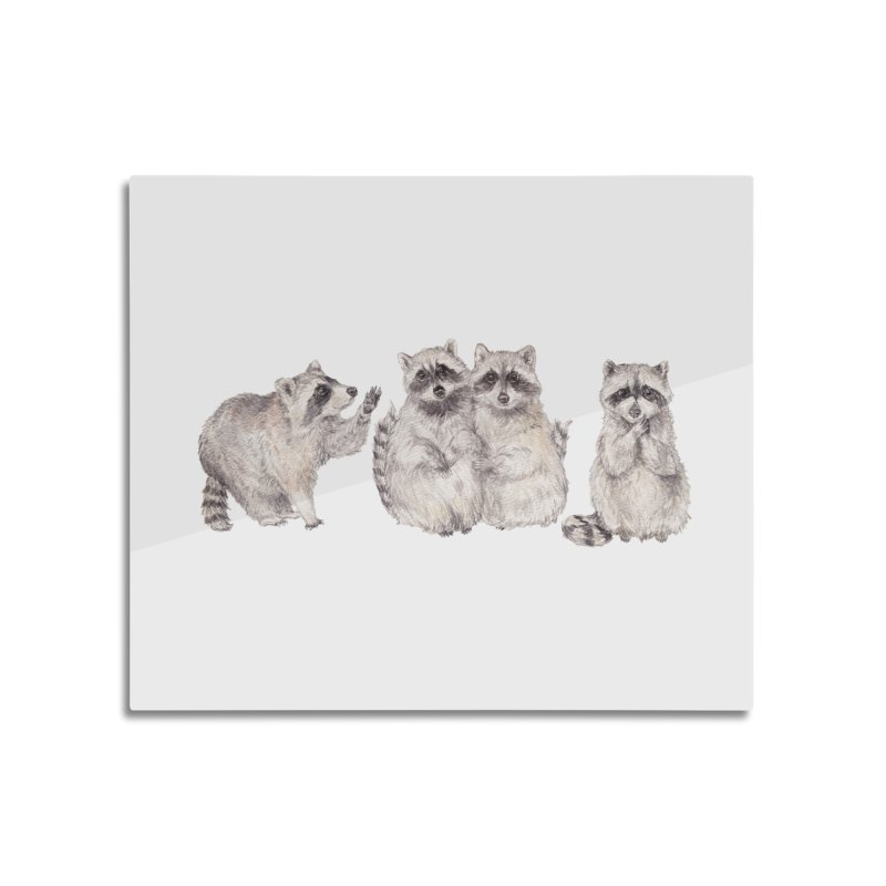 Watercolor Raccoon Home Mounted Acrylic Print by Wandering Laur's Artist Shop