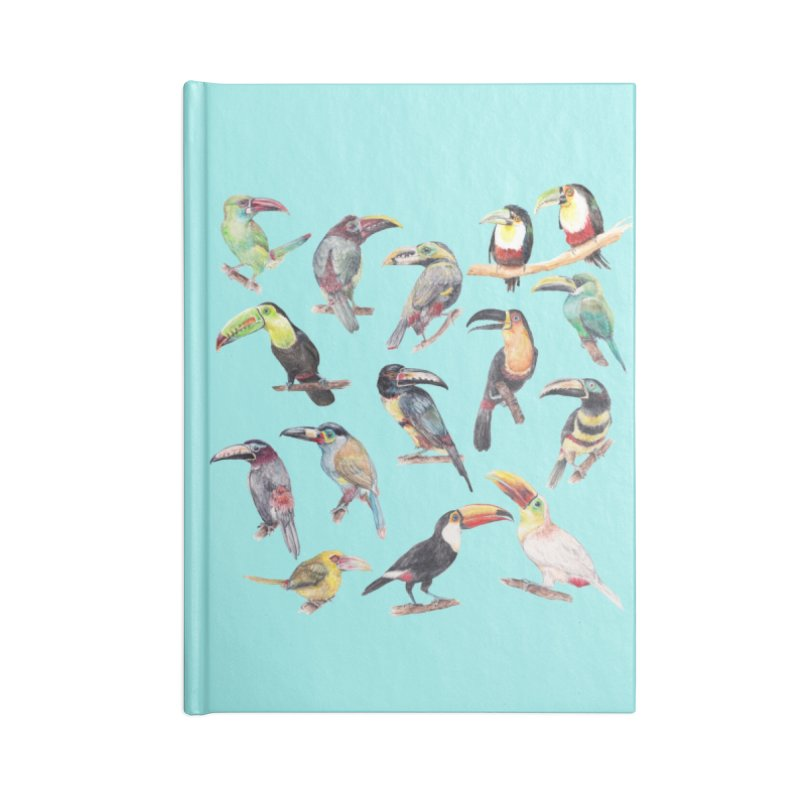 A Flock of Watercolor Toucans Accessories Notebook by Wandering Laur's Artist Shop