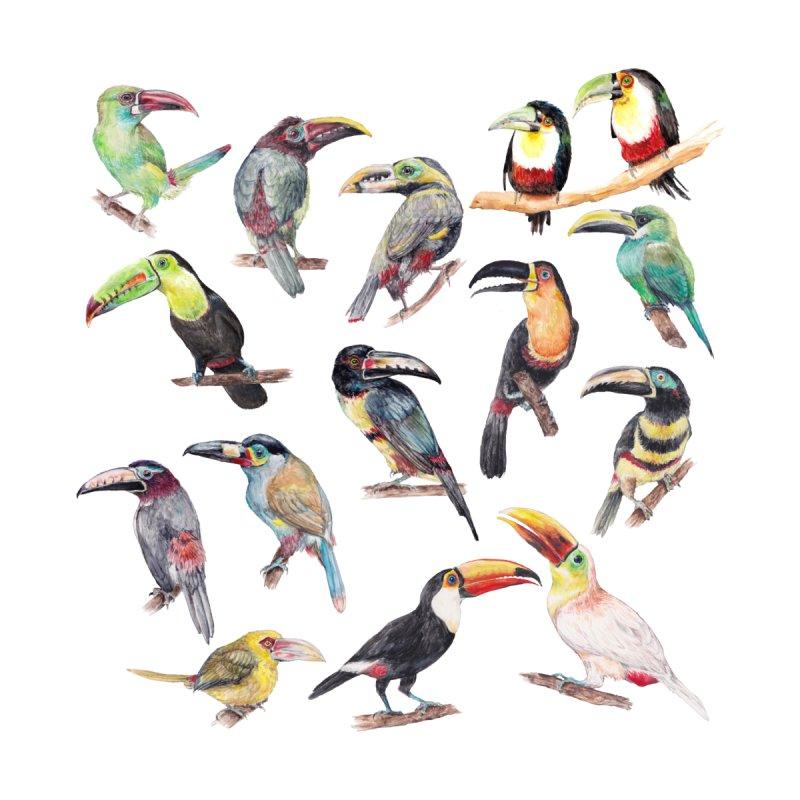 A Flock of Watercolor Toucans Women's T-Shirt by Wandering Laur's Artist Shop
