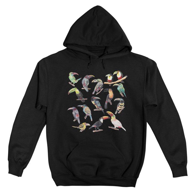 A Flock of Watercolor Toucans Women's Pullover Hoody by Wandering Laur's Artist Shop