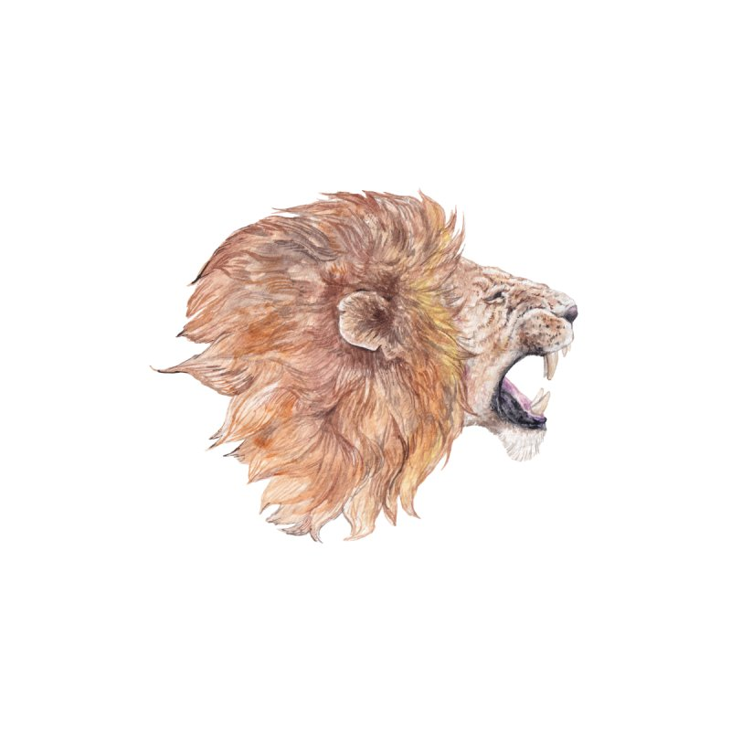Roaring Watercolor Lion Men's Zip-Up Hoody by Wandering Laur's Artist Shop
