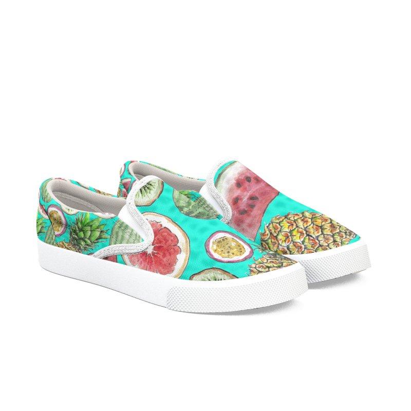 Watercolor Tropical Fruit Women's Shoes by Wandering Laur's Artist Shop