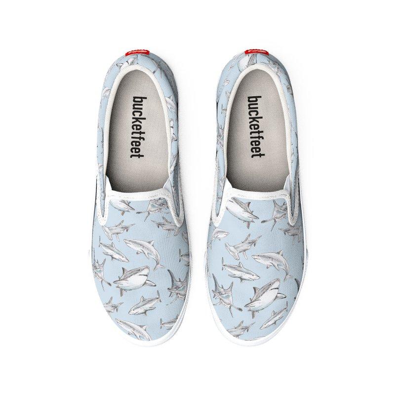 Watercolor Friendly Shark Women's Shoes by Wandering Laur's Artist Shop