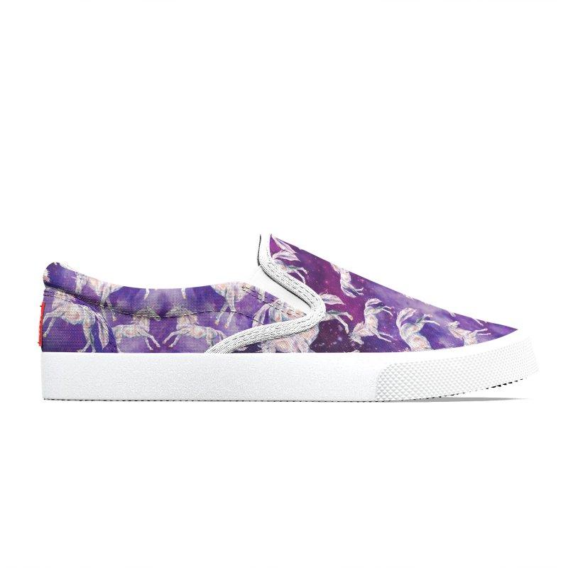Watercolor Unicorns in a Galaxy Women's Shoes by Wandering Laur's Artist Shop