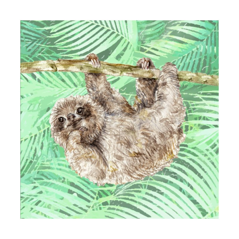 Watercolor Sloth Hanging in the Jungle by Wandering Laur's Artist Shop