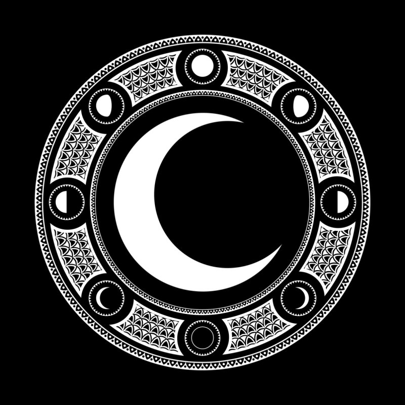 Crescent Moon Emblem Men's T-Shirt by RyanJackAllred
