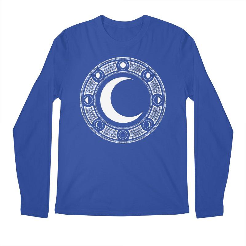 Crescent Moon Emblem Men's Regular Longsleeve T-Shirt by Wandering Moon