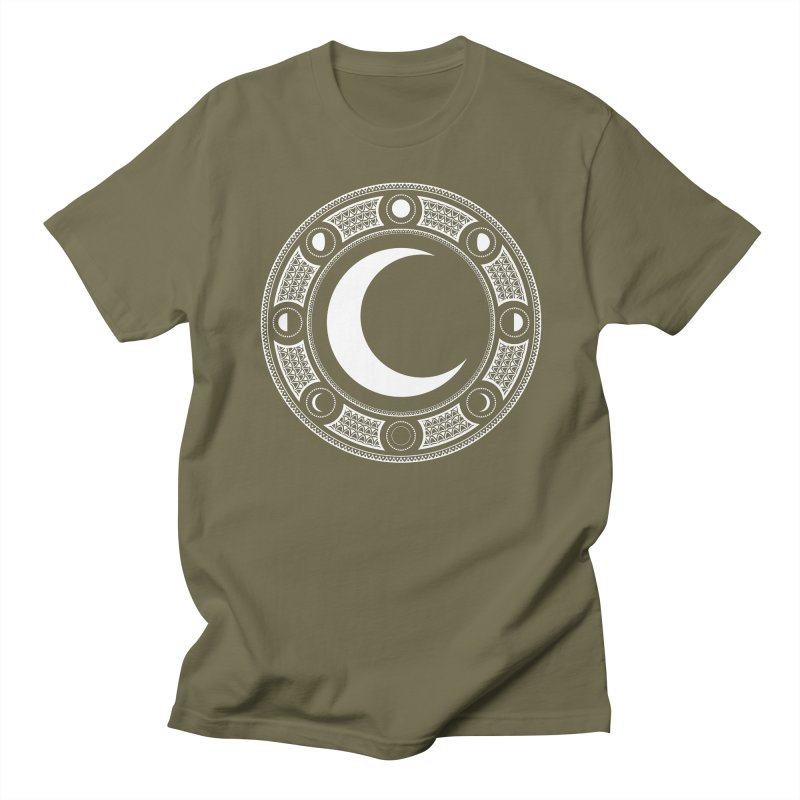 Crescent Moon Emblem Men's Regular T-Shirt by Wandering Moon