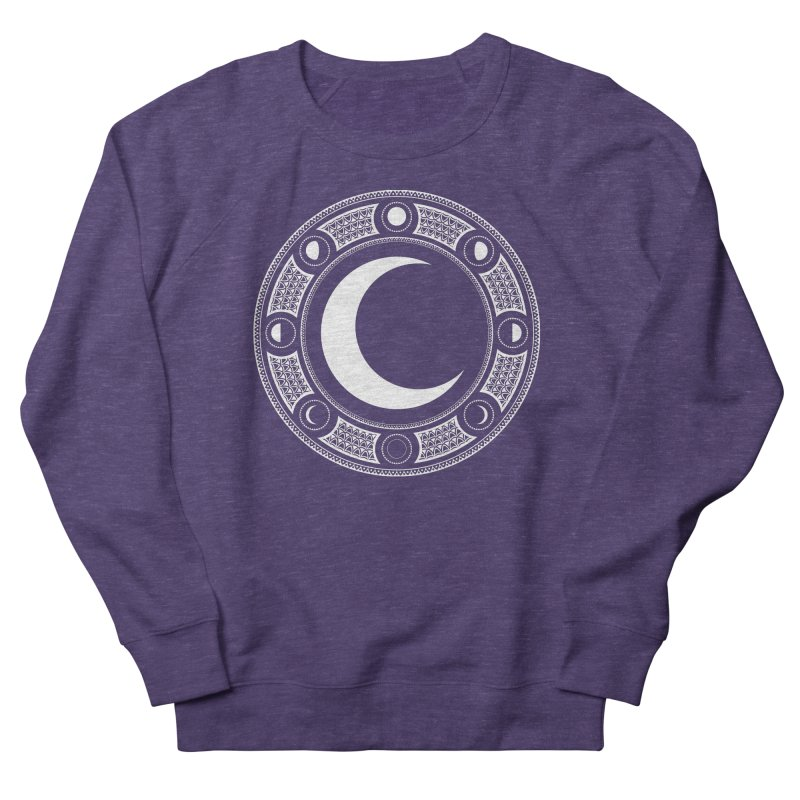 Crescent Moon Emblem Women's French Terry Sweatshirt by Wandering Moon