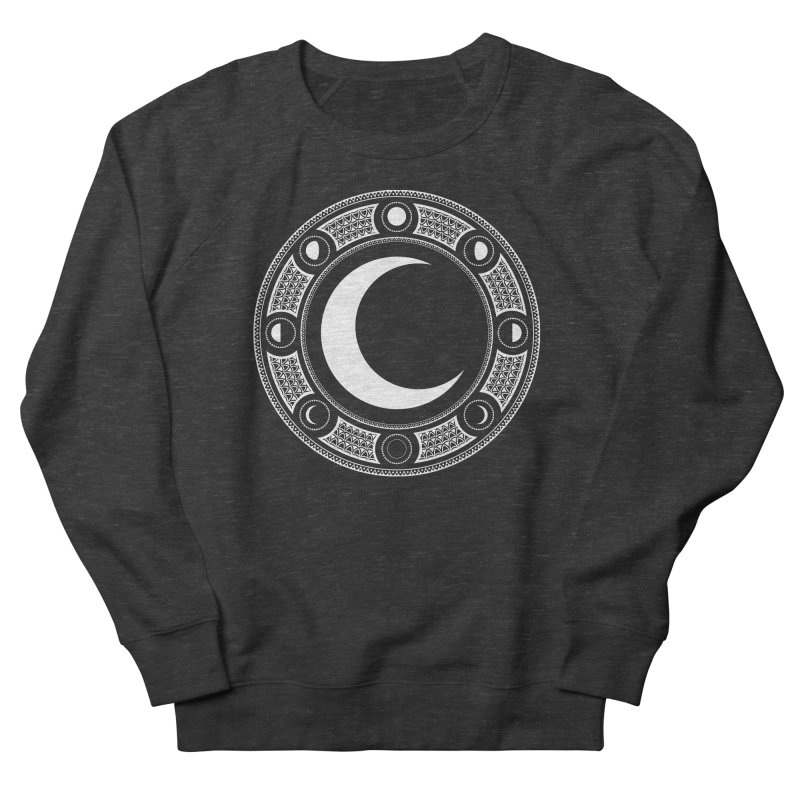 Crescent Moon Emblem Men's French Terry Sweatshirt by Wandering Moon