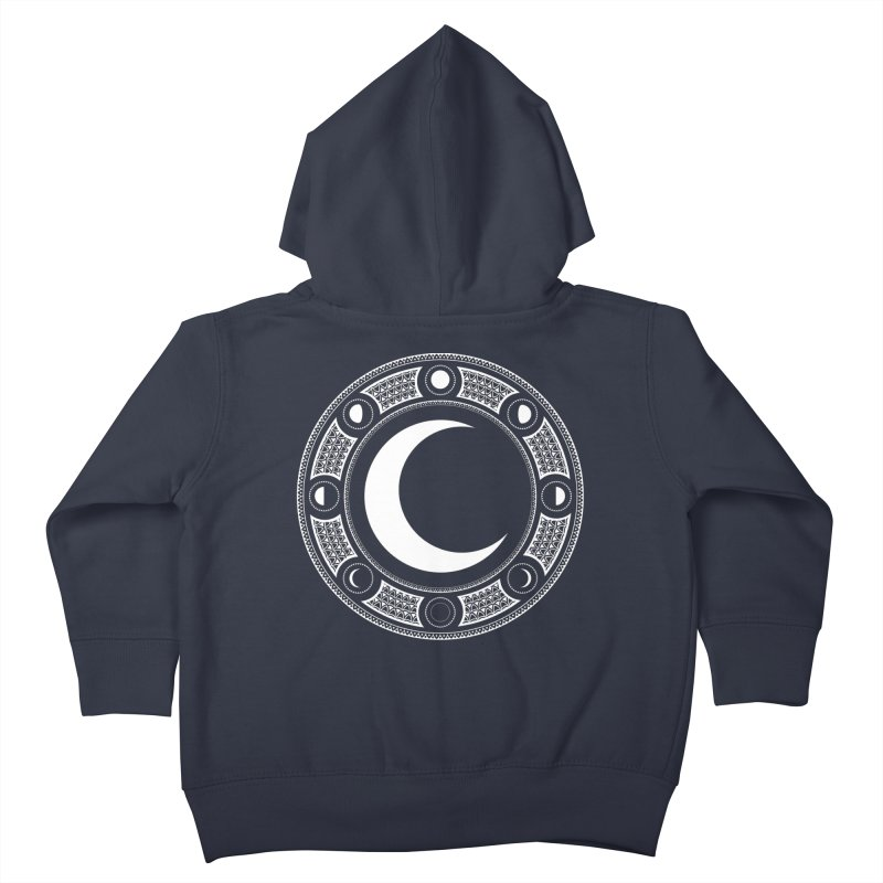 Crescent Moon Emblem Kids Toddler Zip-Up Hoody by Wandering Moon