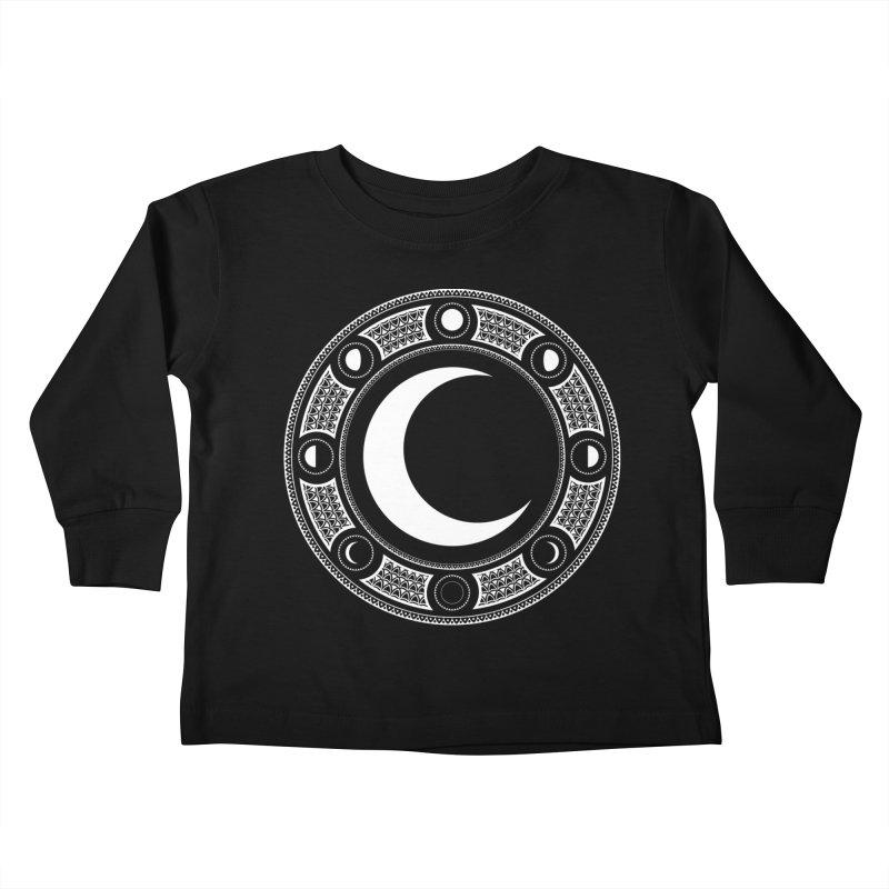 Crescent Moon Emblem Kids Toddler Longsleeve T-Shirt by Wandering Moon