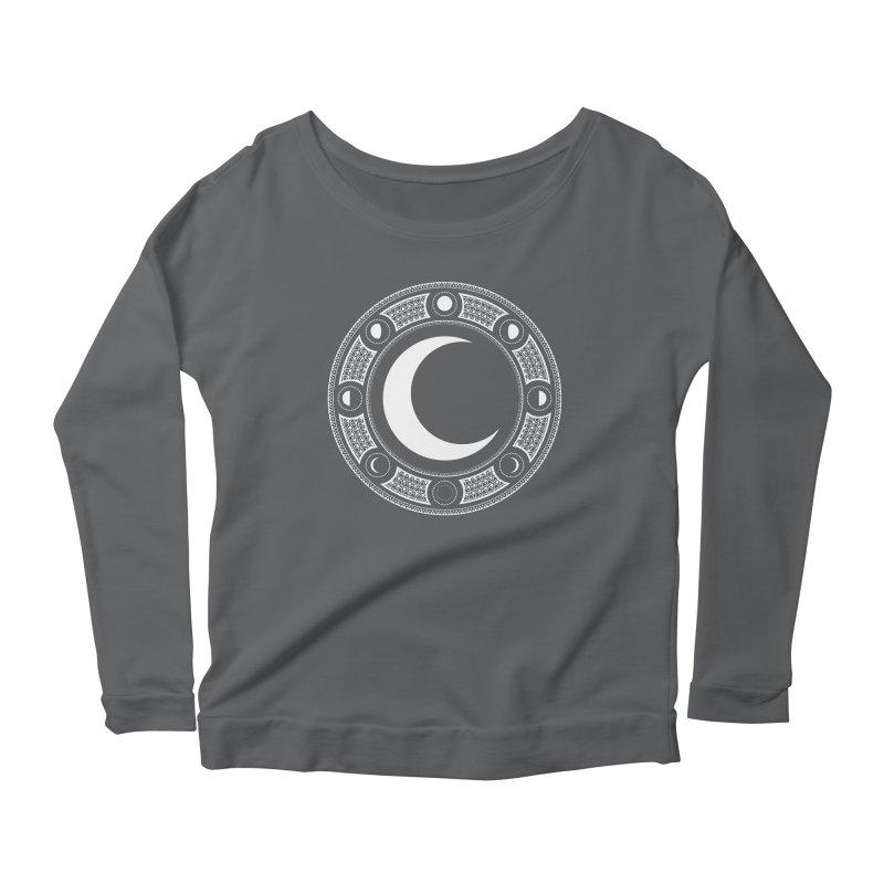 Crescent Moon Emblem Women's Scoop Neck Longsleeve T-Shirt by Wandering Moon