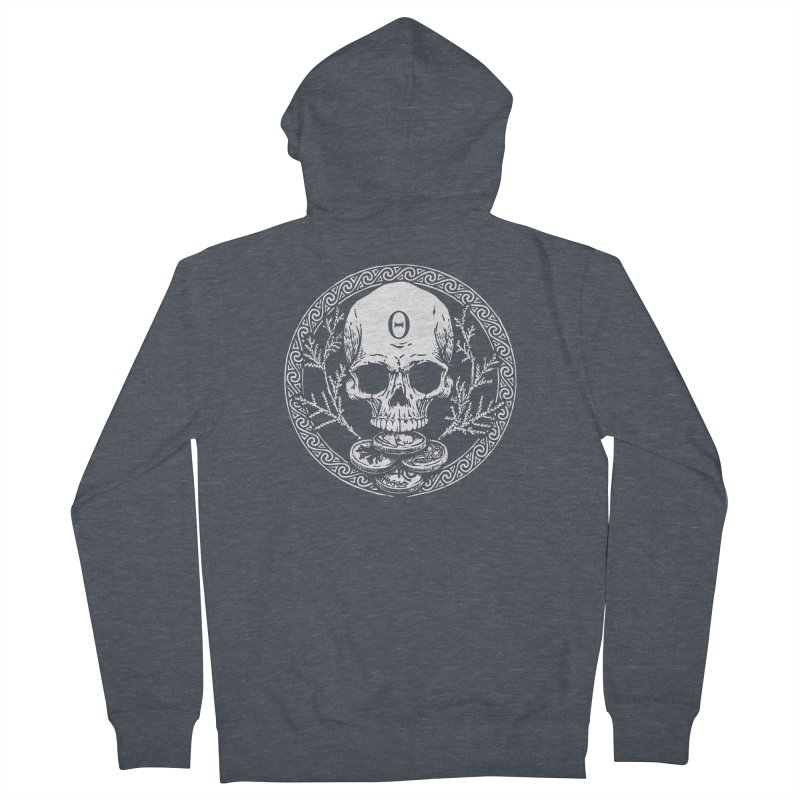 Seal of the Underworld Men's French Terry Zip-Up Hoody by Wandering Moon