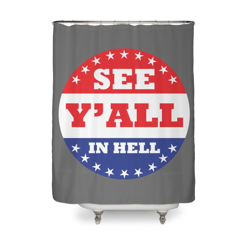 I VOTED I GUESS Home Shower Curtain by Wander Lane Threadless Shop