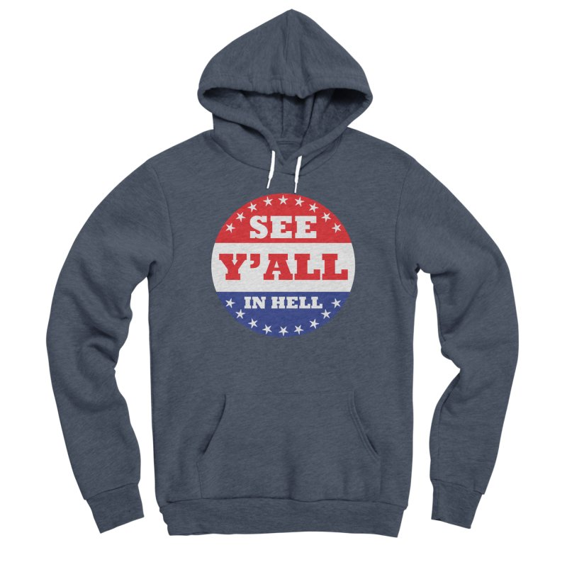 I VOTED I GUESS Women's Sponge Fleece Pullover Hoody by Wander Lane Threadless Shop