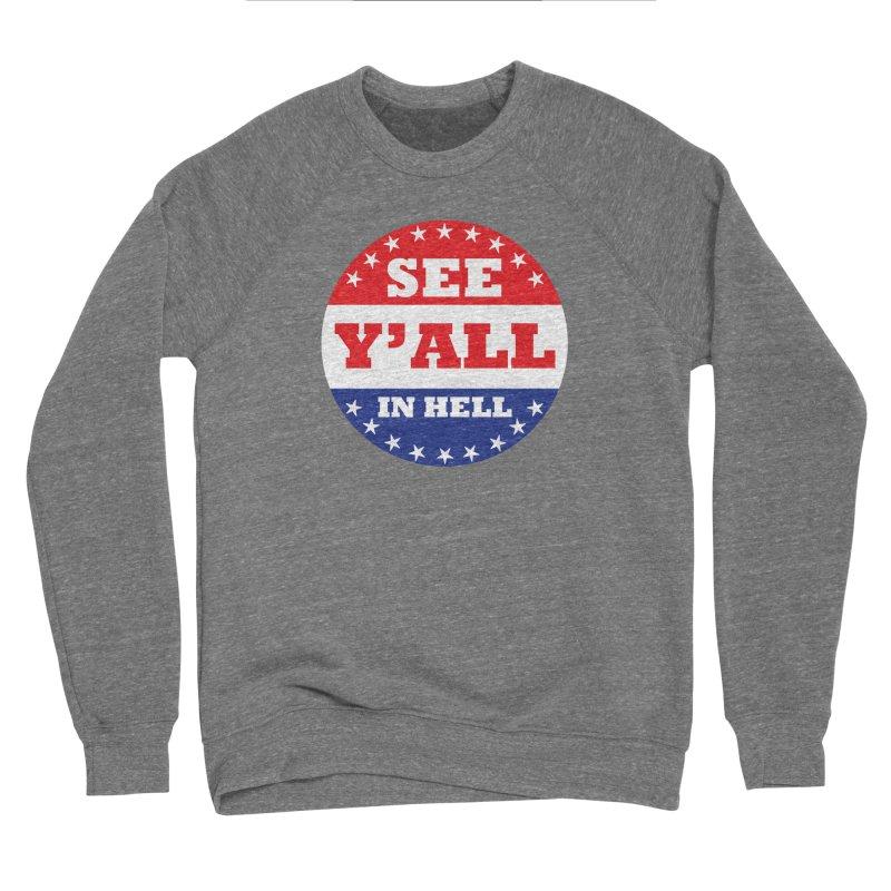 I VOTED I GUESS Men's Sponge Fleece Sweatshirt by Wander Lane Threadless Shop
