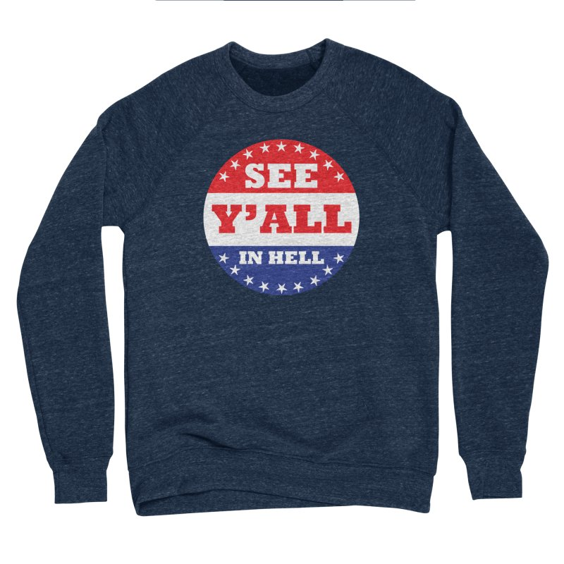 I VOTED I GUESS Women's Sponge Fleece Sweatshirt by Wander Lane Threadless Shop