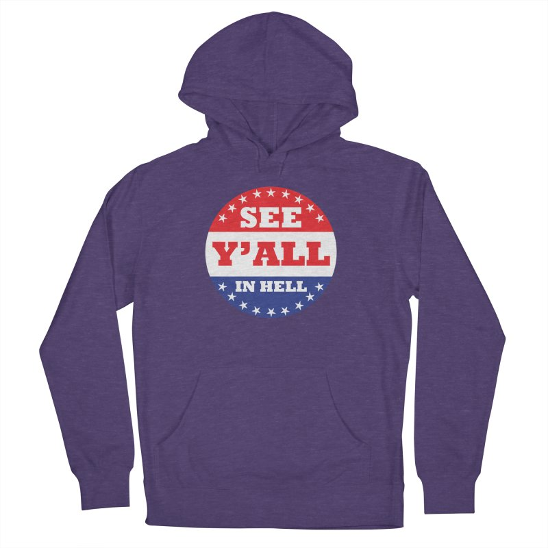 I VOTED I GUESS Men's French Terry Pullover Hoody by Wander Lane Threadless Shop