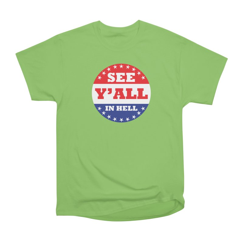 I VOTED I GUESS Men's Heavyweight T-Shirt by Wander Lane Threadless Shop