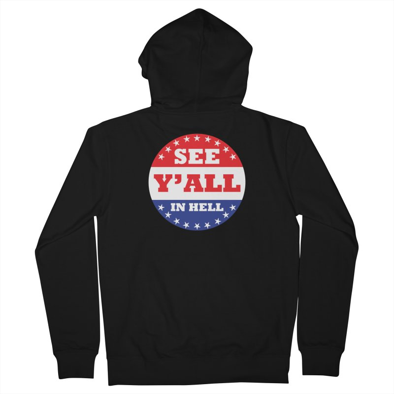 I VOTED I GUESS Men's French Terry Zip-Up Hoody by Wander Lane Threadless Shop