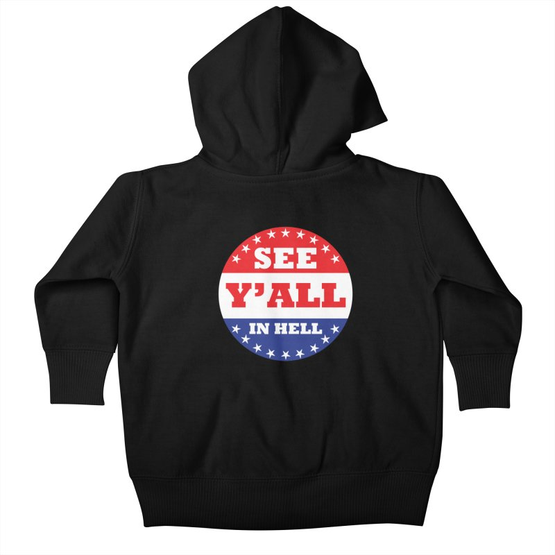 I VOTED I GUESS Kids Baby Zip-Up Hoody by Wander Lane Threadless Shop