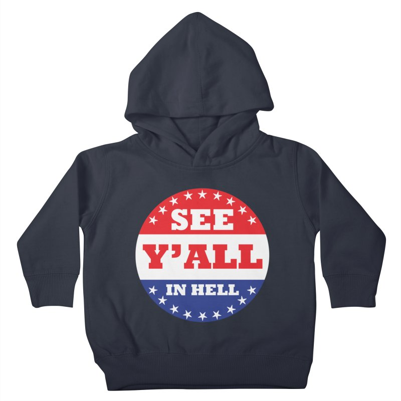 I VOTED I GUESS Kids Toddler Pullover Hoody by Wander Lane Threadless Shop