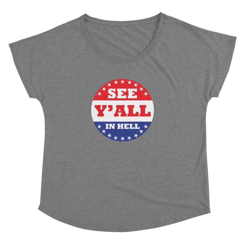 I VOTED I GUESS Women's Dolman Scoop Neck by Wander Lane Threadless Shop
