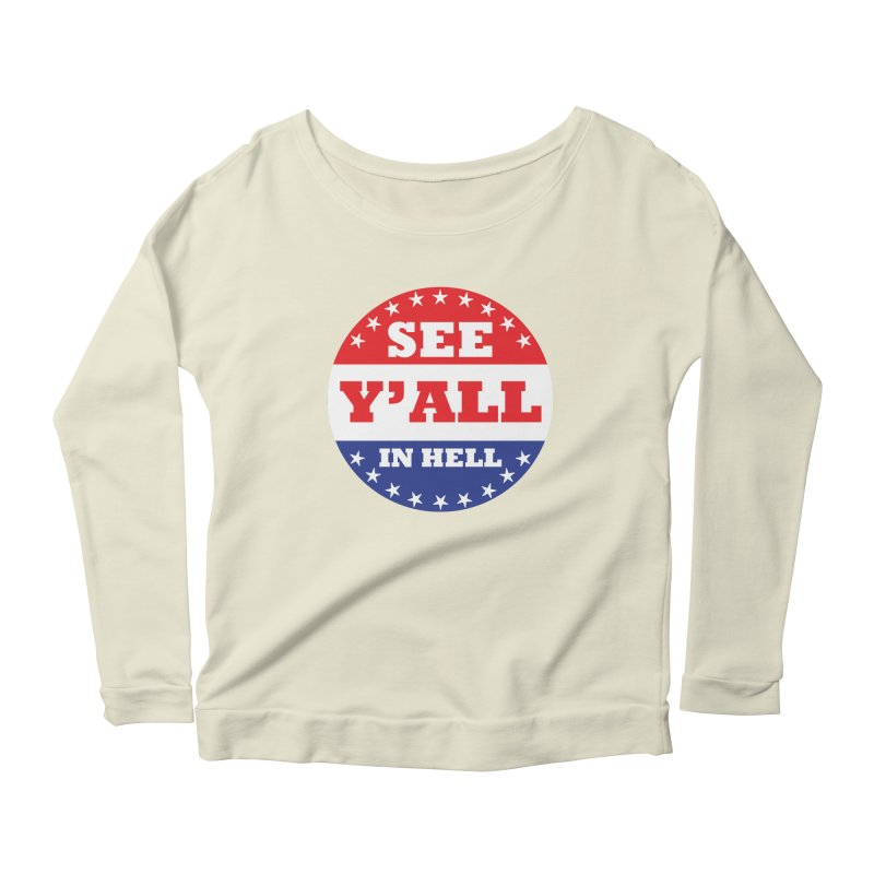 I VOTED I GUESS Women's Scoop Neck Longsleeve T-Shirt by Wander Lane Threadless Shop