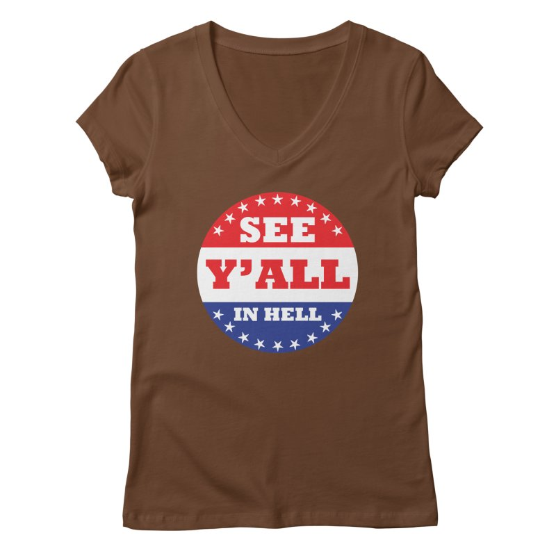 I VOTED I GUESS Women's Regular V-Neck by Wander Lane Threadless Shop