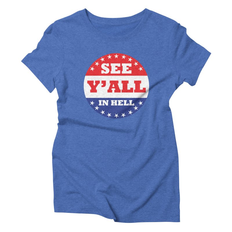 I VOTED I GUESS Women's Triblend T-Shirt by Wander Lane Threadless Shop