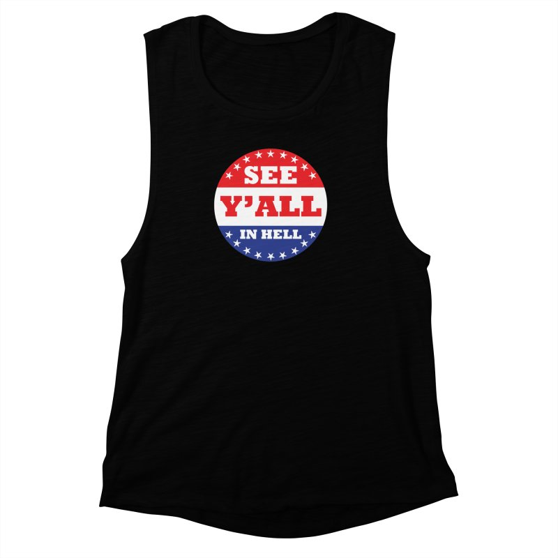 I VOTED I GUESS Women's Muscle Tank by Wander Lane Threadless Shop