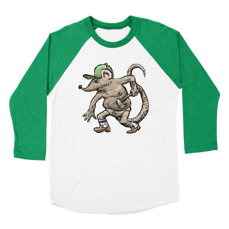 Axe to Grind Women's Baseball Triblend Longsleeve T-Shirt by Wander Lane Threadless Shop