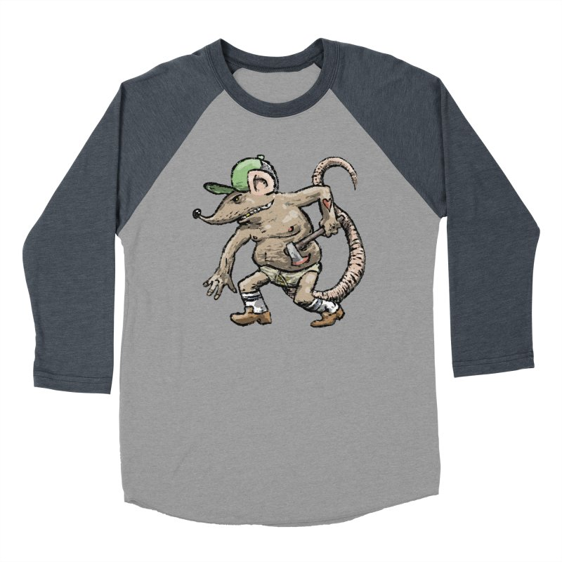 Axe to Grind Men's Baseball Triblend Longsleeve T-Shirt by Wander Lane Threadless Shop