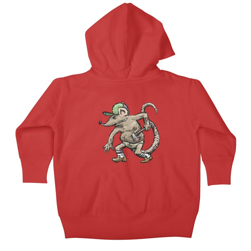 Axe to Grind Kids Baby Zip-Up Hoody by Wander Lane Threadless Shop